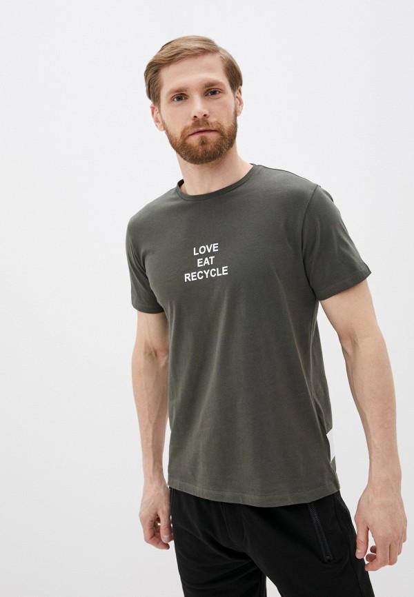 мужская футболка с коротким рукавом antony morato, хаки