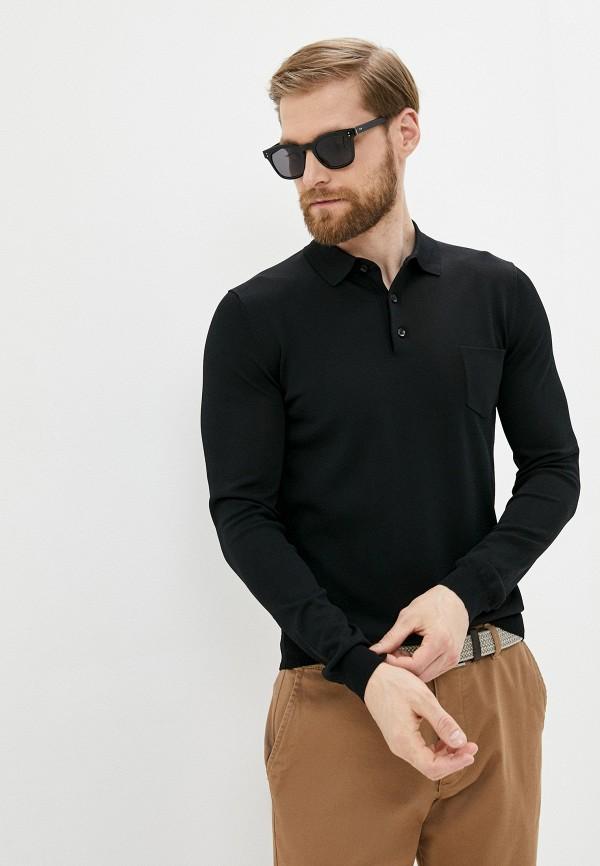 мужское поло antony morato, черное