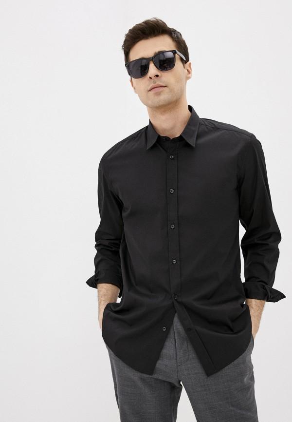 мужская рубашка с длинным рукавом antony morato, черная