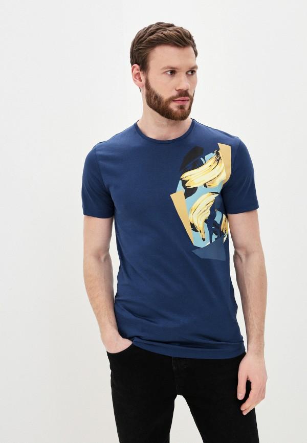 мужская футболка с коротким рукавом antony morato, синяя