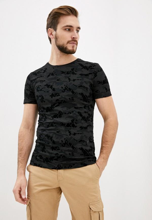 мужская футболка с коротким рукавом antony morato, черная
