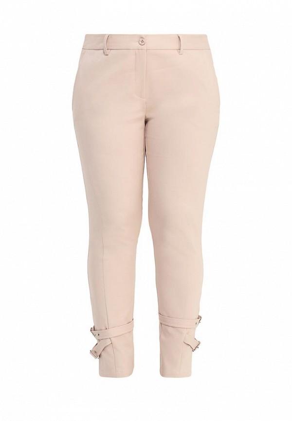 женские повседневные брюки apart, розовые