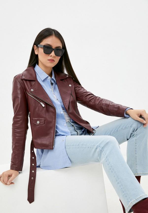 женская куртка arma, бордовая