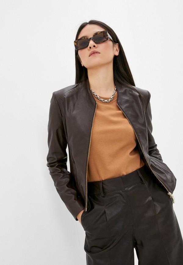 женская куртка arma, коричневая