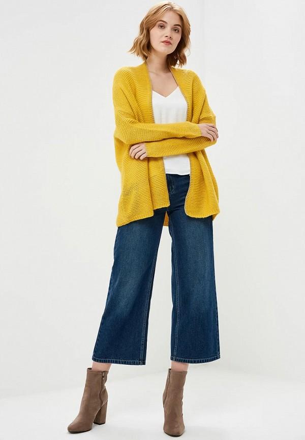 Фото 2 - женский кардиган Art Love желтого цвета