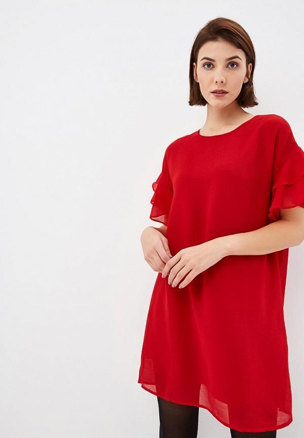 женское повседневные платье art love, красное