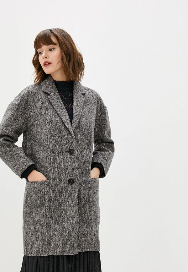 женское пальто art love, серое