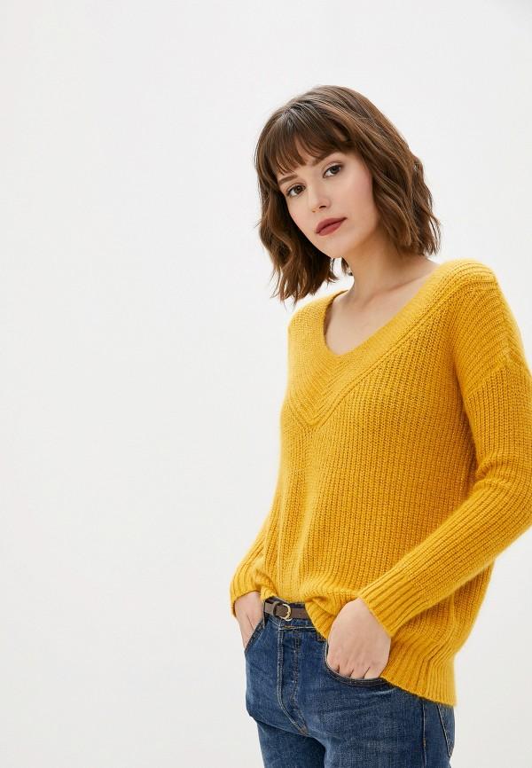 женский пуловер art love, желтый