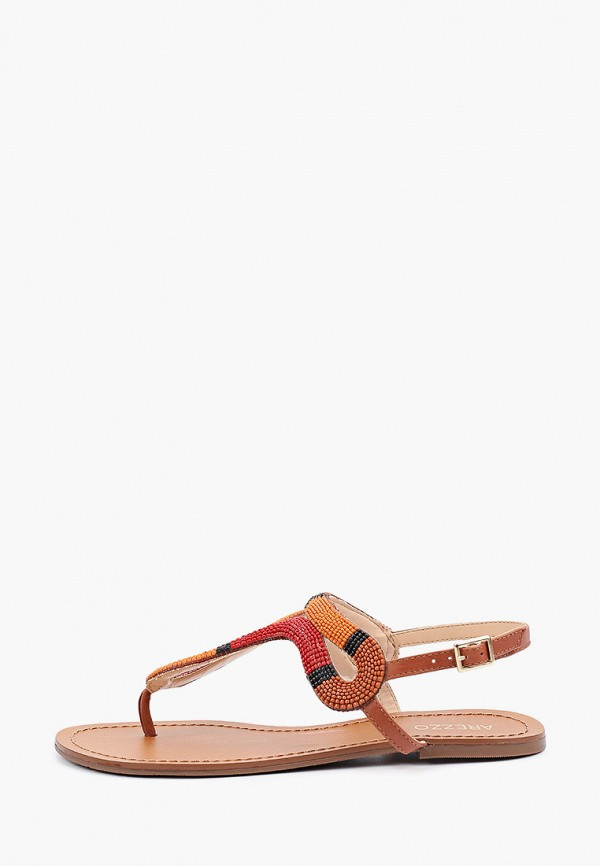 женские сандалии arezzo, коричневые