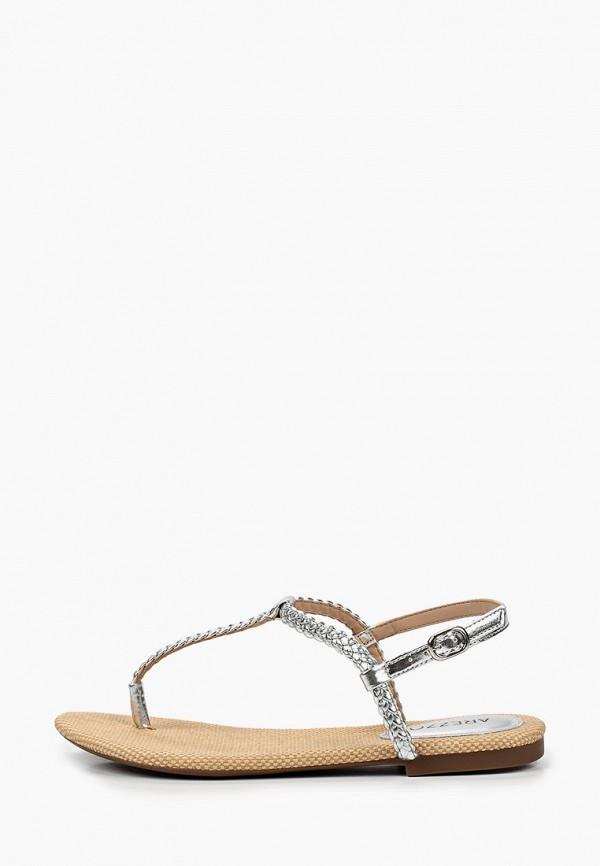 женские сандалии arezzo, серебряные