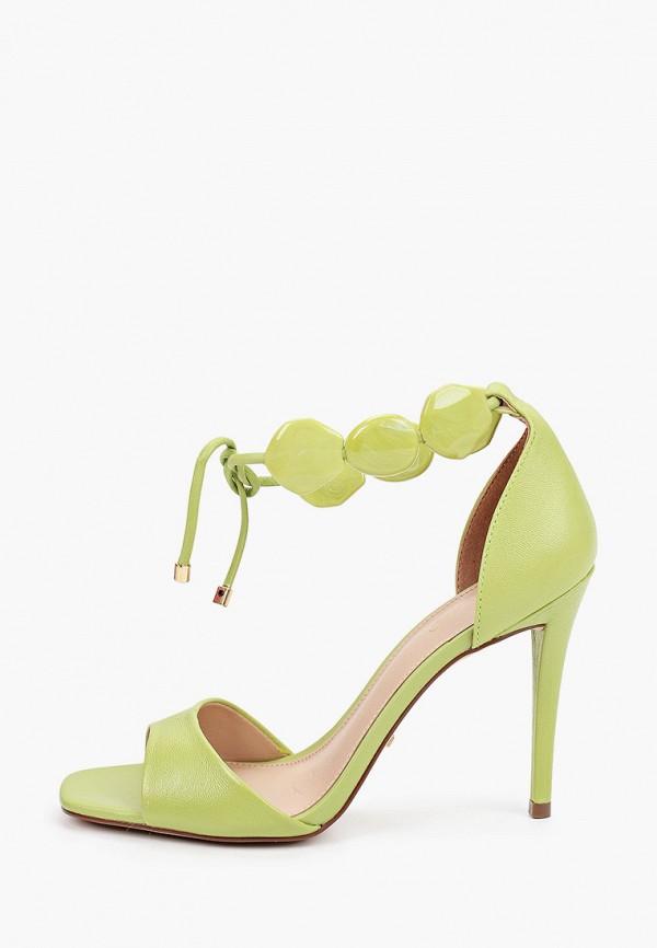 женские босоножки arezzo, зеленые