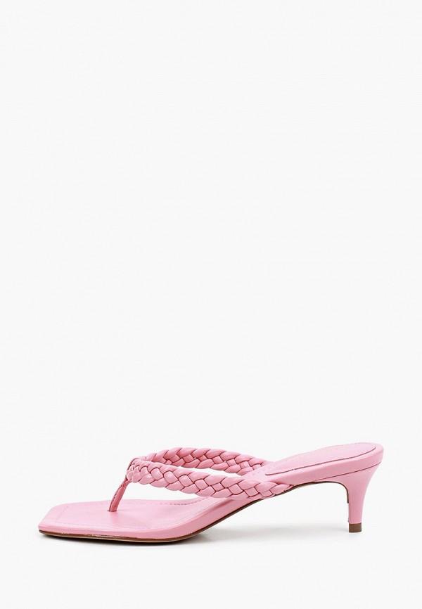 женское сабо arezzo, розовое