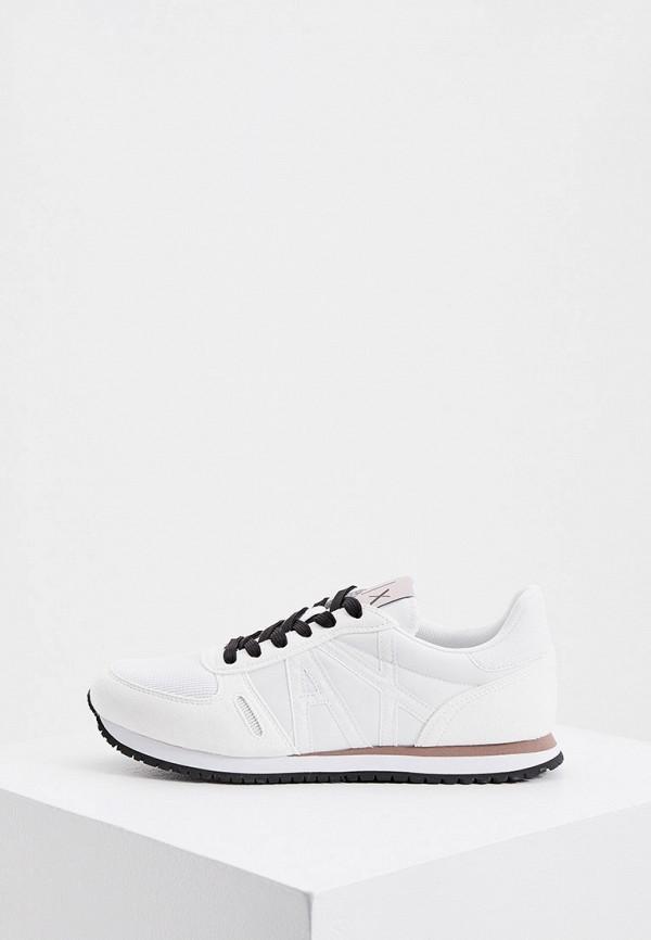женские низкие кроссовки armani exchange, белые