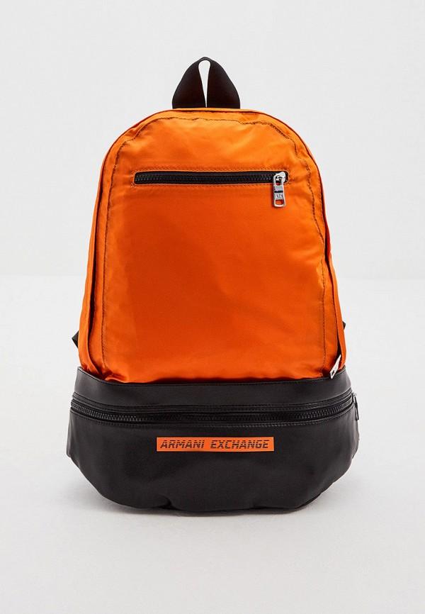 мужской рюкзак armani exchange, оранжевый