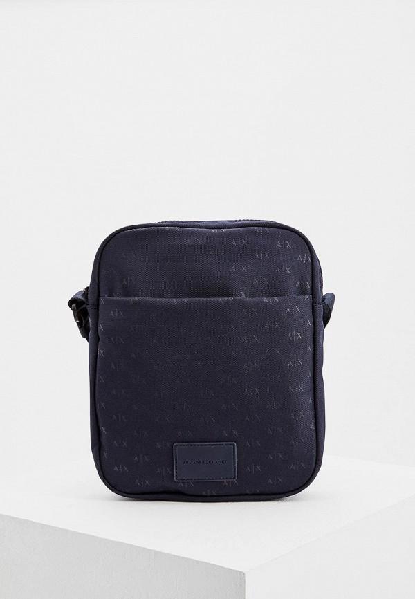 мужская сумка armani exchange, синяя