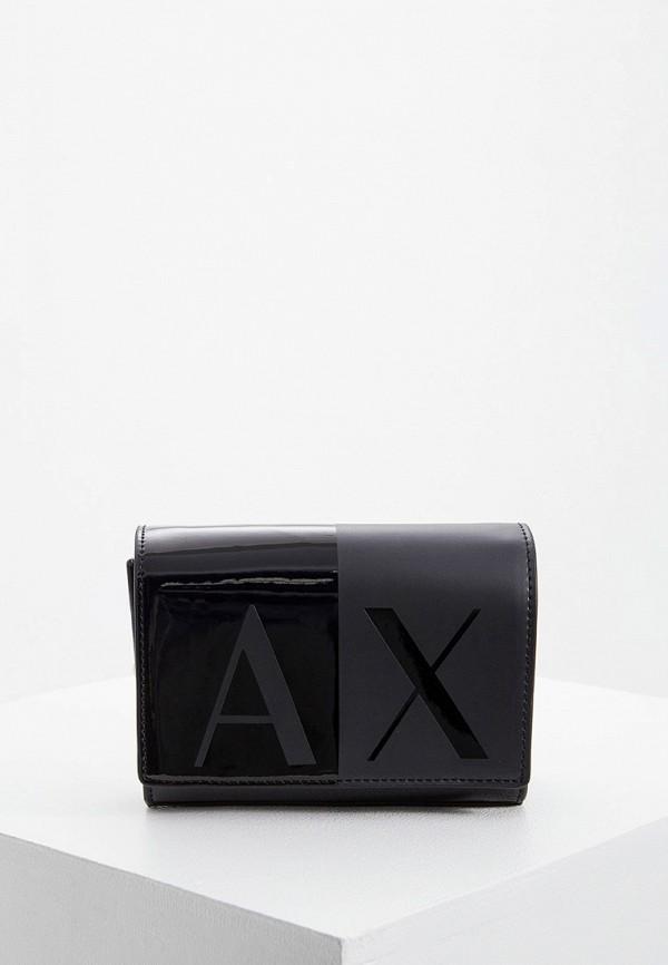 женская сумка armani exchange, черная
