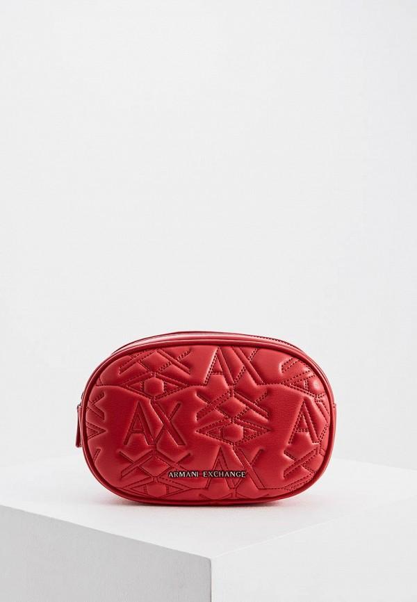 женская сумка armani exchange, красная