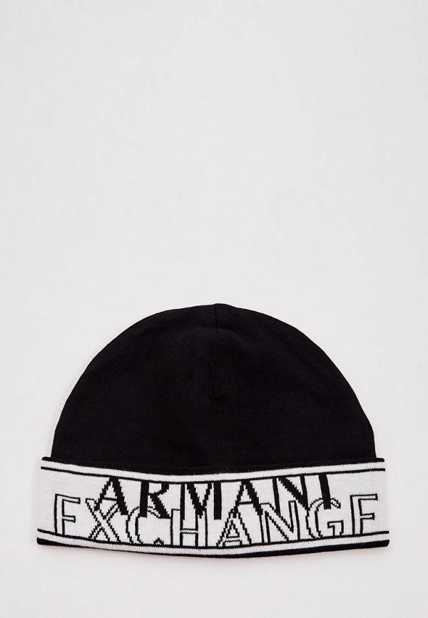 мужская шапка armani exchange, черная