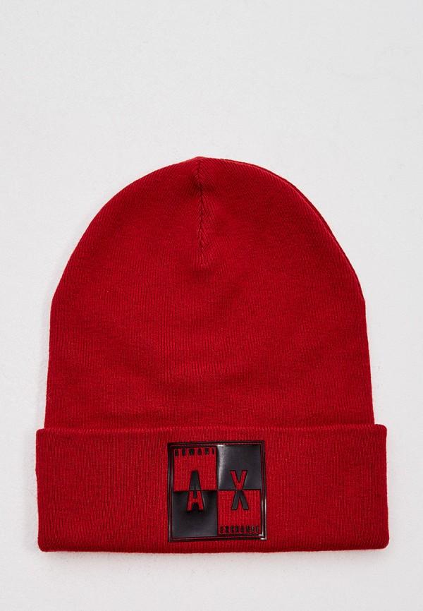 мужская шапка armani exchange, красная