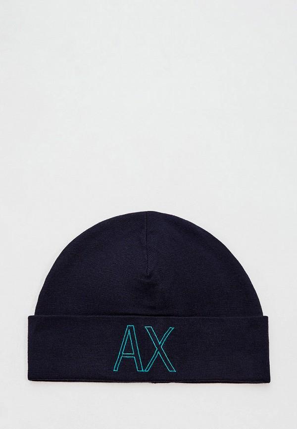 мужская шапка armani exchange, синяя