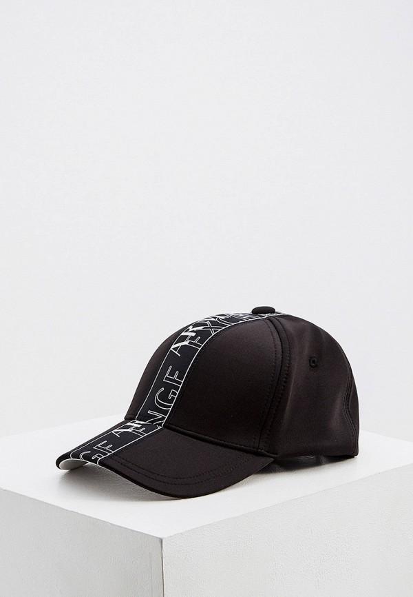 мужская бейсболка armani exchange, черная