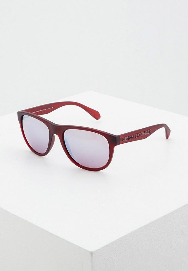 мужские солнцезащитные очки armani exchange, бордовые