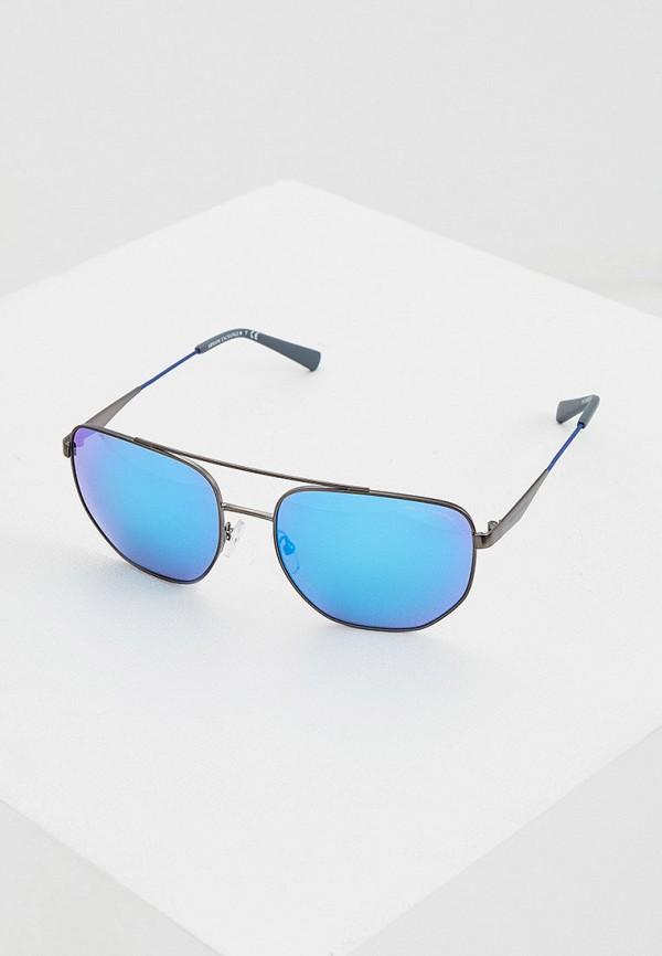 мужские солнцезащитные очки armani exchange, голубые