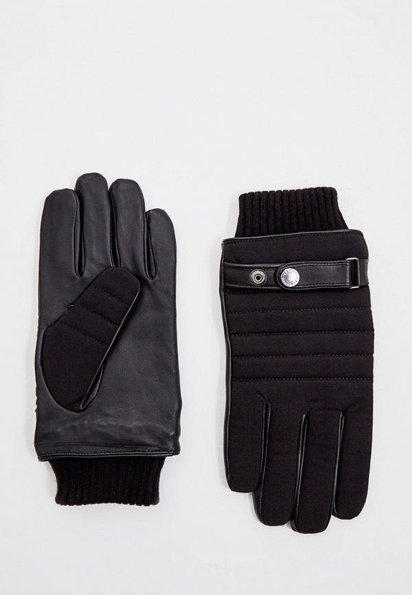 мужские текстильные перчатки armani exchange, черные