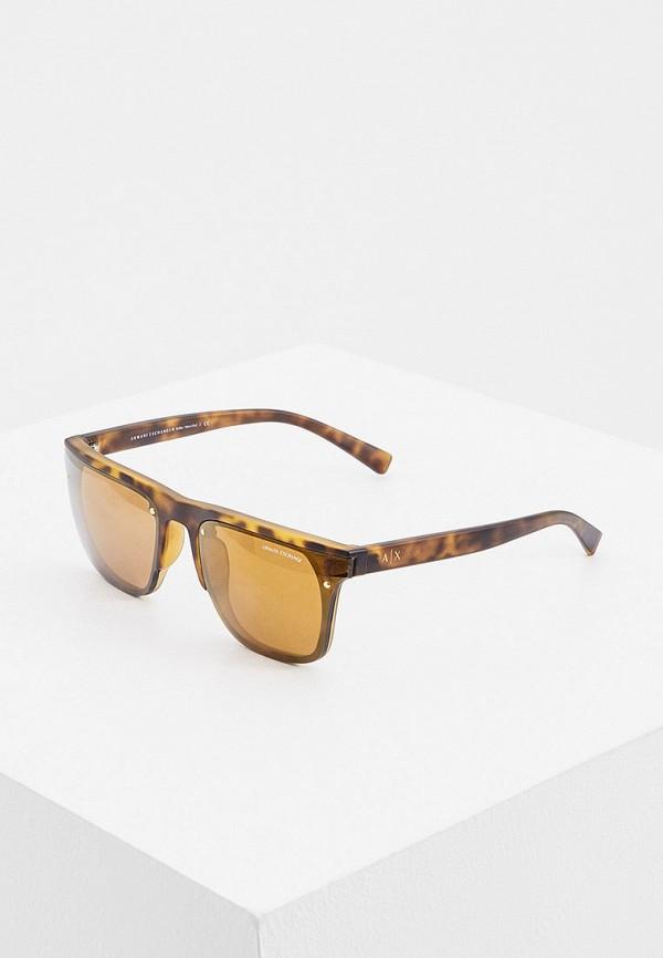 мужские солнцезащитные очки armani exchange, коричневые