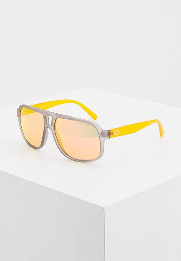 мужские солнцезащитные очки armani exchange, серые