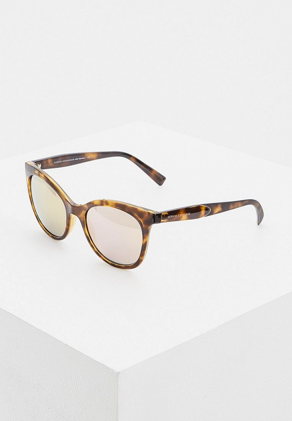 женские солнцезащитные очки armani exchange, коричневые