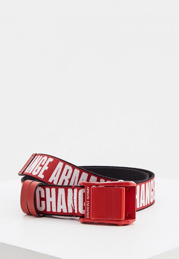 женский ремень armani exchange, красный