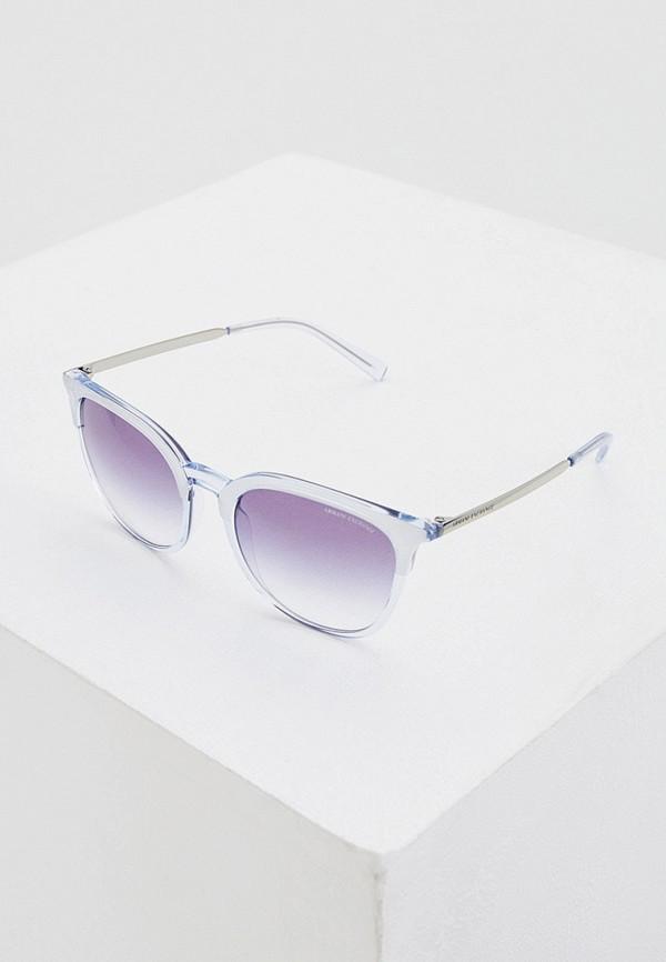 женские солнцезащитные очки armani exchange, голубые