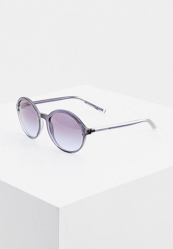 женские круглые солнцезащитные очки armani exchange, синие