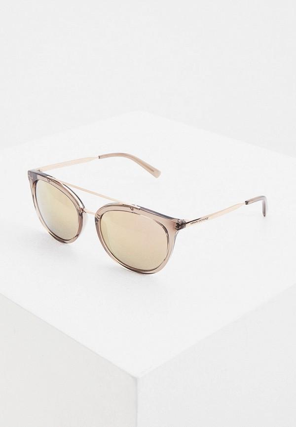 женские солнцезащитные очки armani exchange, розовые