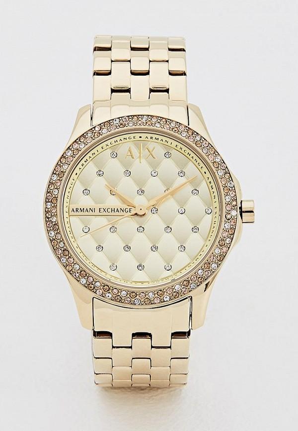 женские часы armani exchange, золотые