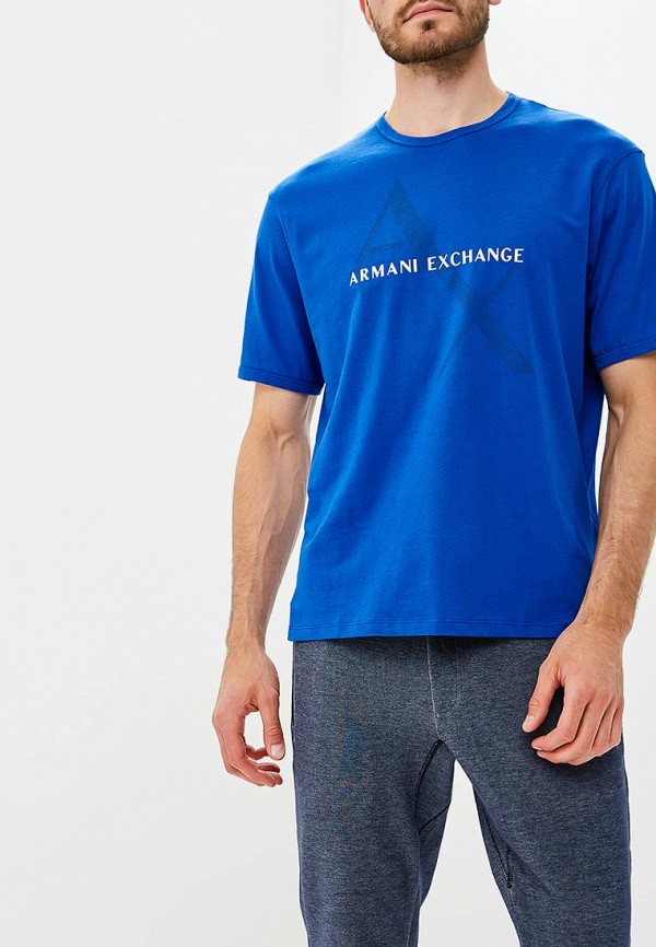 Купить Футболка Armani Exchange, AR037EMBLDQ1, синий, Осень-зима 2018/2019