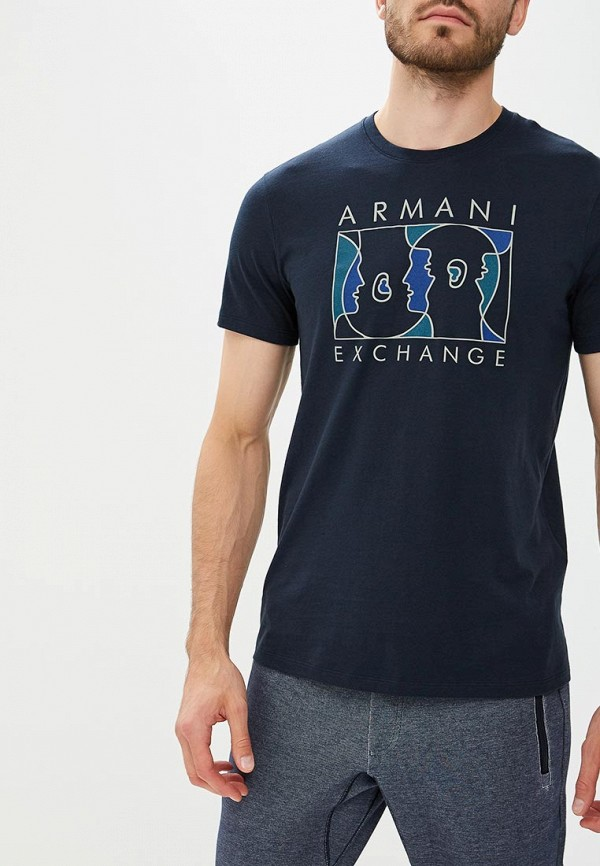 Купить Футболка Armani Exchange, AR037EMBLDS9, синий, Осень-зима 2018/2019