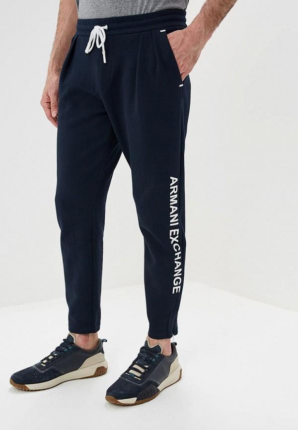 мужские брюки джоггеры armani exchange, синие