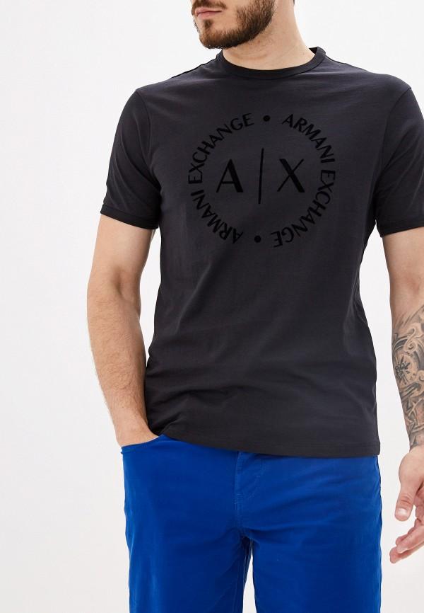 мужская футболка armani exchange, черная