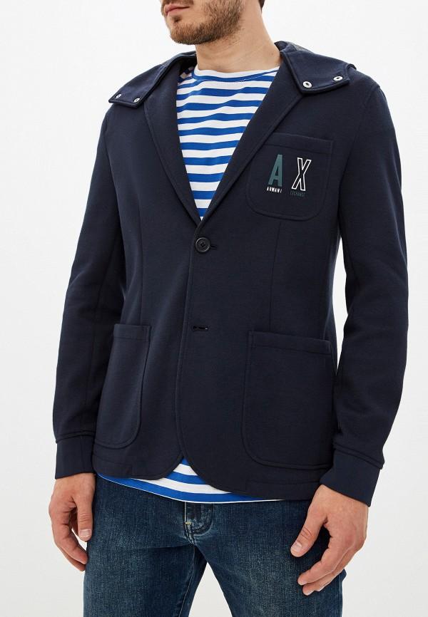 мужской пиджак armani exchange, синий