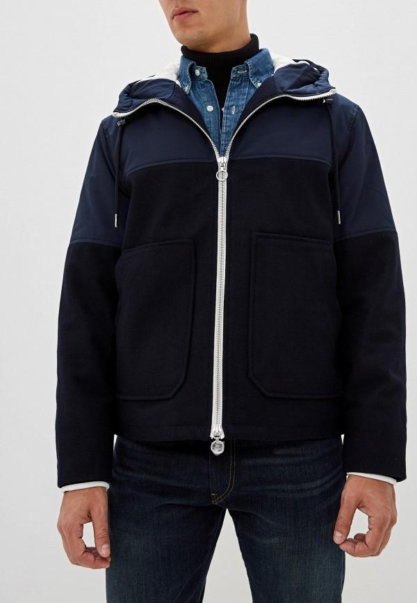 мужская куртка armani exchange, синяя