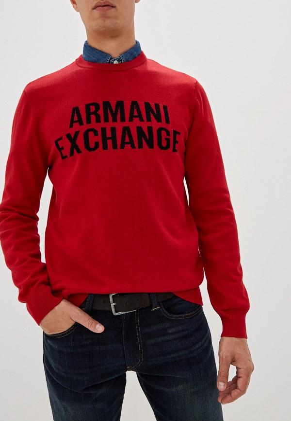 мужской джемпер armani exchange, красный