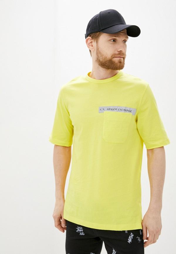 мужская футболка armani exchange, желтая