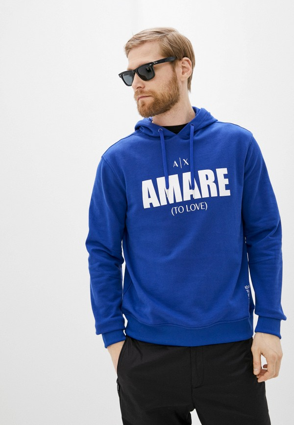 мужские худи armani exchange, синие
