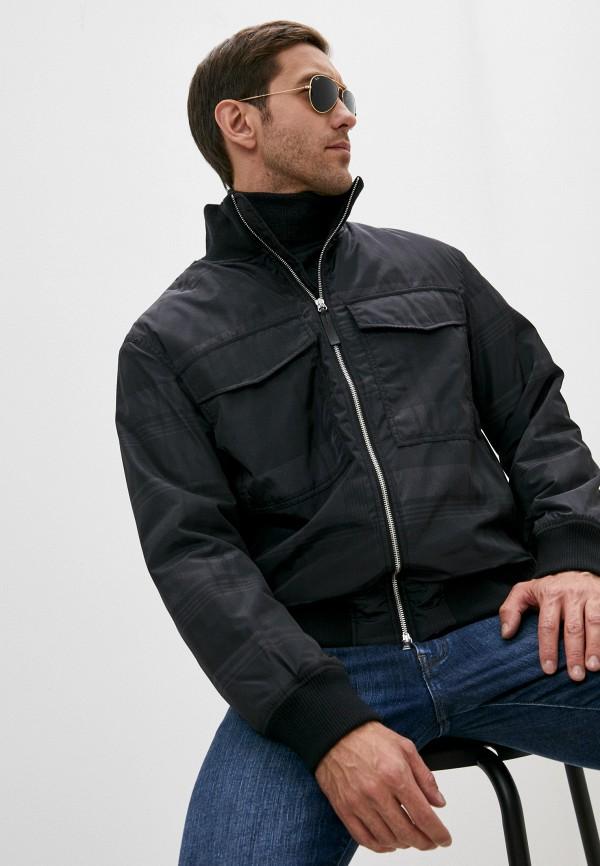 мужская утепленные куртка armani exchange, черная