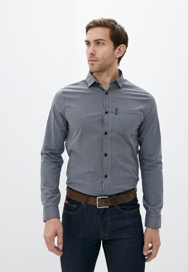 мужская рубашка с длинным рукавом armani exchange, синяя