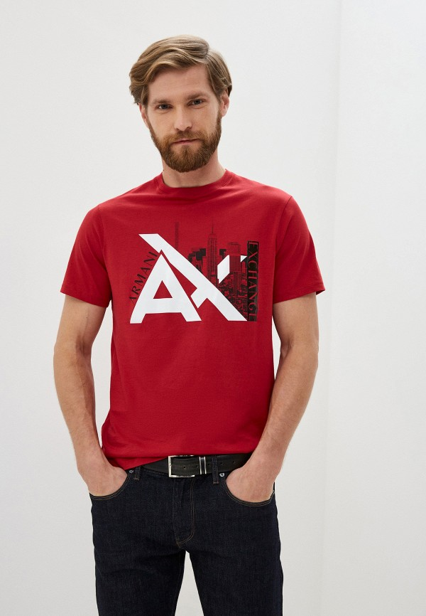 мужская футболка armani exchange, красная