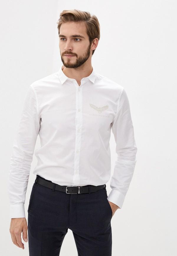 мужская рубашка с длинным рукавом armani exchange, белая