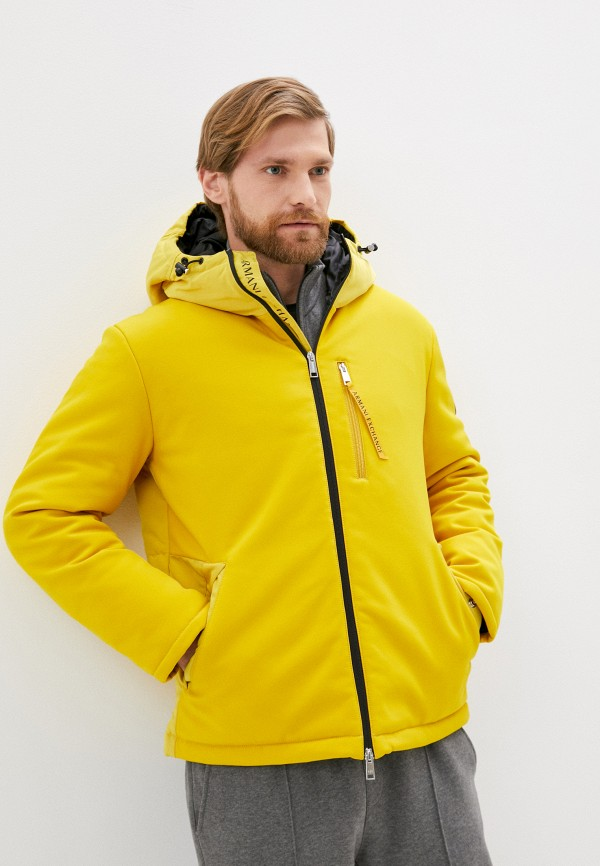 мужская куртка armani exchange, желтая